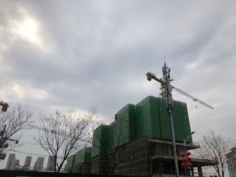 复工啦!《信合·阳光城》2020年3月16日施工现场